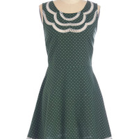ModCloth Mid-length Sleeveless A-line It's About Pine Dress