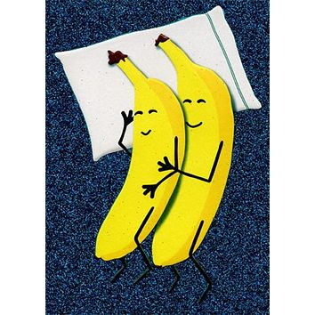 Anniversary Greeting Card - Two Bananas