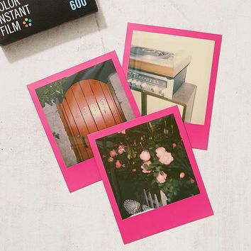 Impossible Colour Polaroid 600 Hot Pink Frame Instant Film   Urban Outfitters