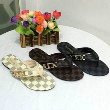 Louis Vuitton Women Sandals Shoes Slipper
