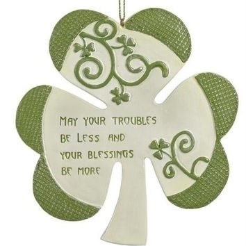 Christmas Ornament - Irish Blessing Shamrock