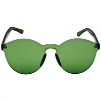 Green Transparent Cat-Eye Sunglasses