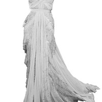 Lace Train Gown
