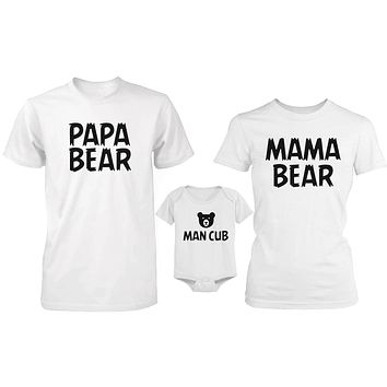 Daddy Mommy and Baby Matching Bear Family T-Shirt / Bodysuit (Sold Separately)