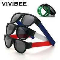 Slap Wristband Sunglasses 2020 Trend Foldable Sports Sun Glasses ASSORTED STYLES and COLORS FREE SHIPPING