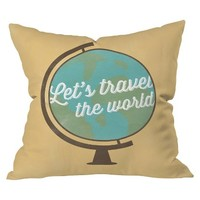 DENY Designs Lets Travel Throw Pillow