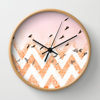 flying Wall Clock by Marianna Tankelevich