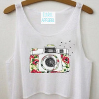 Vintage Camera Crop Top by ElbellApparel on Etsy