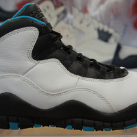 Nike Air Jordan 10 X Retro Powder Blue White Black Sneaker Basketball Shoes 310805-106