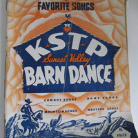Barn Dance Hoedown Sheet Music Cowboy Music Cowboy Songs Radio Station Decor Frameable Sheet Music  KSTP Radio Station Minneapolis