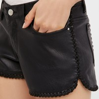 Free People Lace of the Ex Faux Leather Short