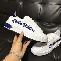 LV Shoes Louis Vuitton2018 spring and summer the latest casual shoes B-ALS-XZ Blue Letters