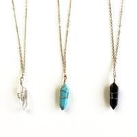 Crystal Springs Pendant Necklace