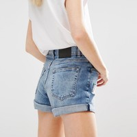 Cheap Monday High Rise Mom Shorts With Roll Hem at asos.com
