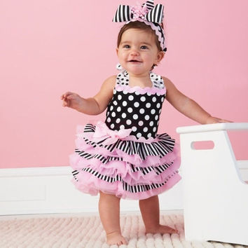 New Fashion Princess Dress Baby Girls Ball Gown Ruffle Sundress 20092 28001 Children's Clothing (Hair band not include) = 1946130372