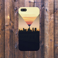 Geometric City Sunset Case for iPhone 6 6 Plus iPhone 5 5s 5c iPhone 4 4s Samsung Galaxy s5 s4 & s3 and Note 4 3 2