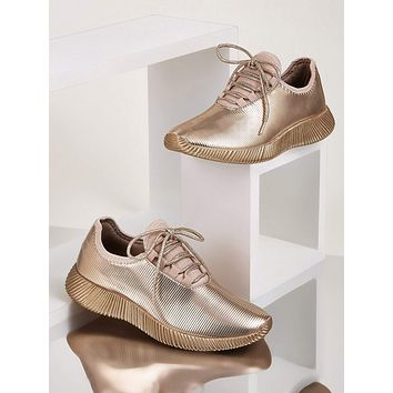 Metallic Lace-up Front Sneakers