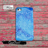 Blue Mandala Line Art Henna Boho Cute Watercolor New iPhone 4 Case and iPhone 5/5s/5c Case and iPhone 6, 6 Plus, 6s, 6s Plus + Wallet Case