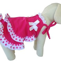 UP Collection Fashionable Summer Dress for Dogs, Fuchsia, Large