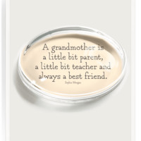 A Grandmother Is A Little Bit Crystal Oval Paperweight