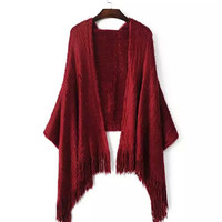 Mohair Fringed Cape