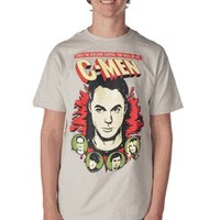 The Big Bang Theory You Will Be My C-Men Ice Grey Adult T-shirt - The Big Bang Theory - Free Shipping on orders over $60   TV Store Online
