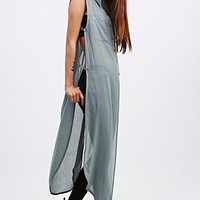 Light Before Dark Textured Long Shirt in Blue - Urban Outfitters