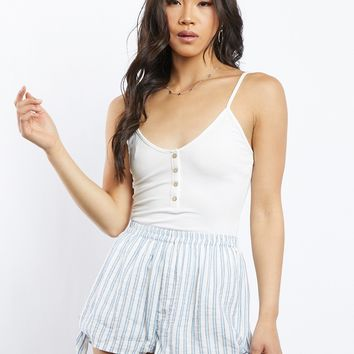 Callie Cropped Button Front Tank