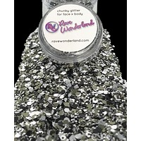 Dark Matter Black and Silver Body and Face Festival Glitter (20 or 30 Grams)