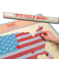Scratch Map USA | Boyfriend Gifts | Gift Ideas | Animi Causa Boutique