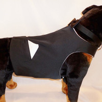 2pc. Large Dog Custom Wedding Suit Vest Tuxedo and Bow Tie Collar Set. Match your wedding colors