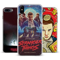 Stranger Things TV Series Coque Mobile Phone Case Cover Shell For Apple iPhone X 8Plus 8 7Plus 7 6sPlus 6s 6Plus 6 5 5S SE 4S 4