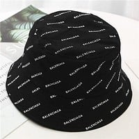 Balenciaga fisherman hat fashion casual letter hat outdoor all-match outing sunbath hat