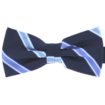 Tok Tok Designs Baby Bow Tie for 14 Months or Up (BK418, Navy)
