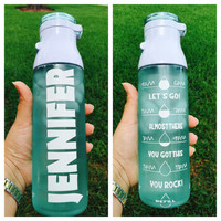 Personalized Motivational 24oz Water Bottle
