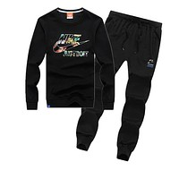 Trendsetter Nike Women Men Top Sweater Pullover Pants Trousers Set Two-Piece
