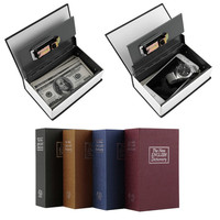 Steel Simulation Dictionary Secret Book Safe Money Box Case Money Jewelry Storage Box Security Key Lock