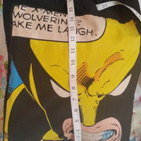 Marvel comics wolverine retro kitsch totally reworked by hand tote,  eco, cotton canvas bag.comicon