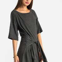 French Terry Front Tie Dress