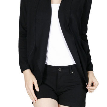 Long Sleeve Open Front Shrug Cardigan