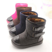 Baby Boots New Winter Fashion Snow Boots Children Warm Bowknot Woolen Infant Crib Boys Girls Fur Winter Snow Shoes