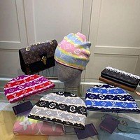 Louis Vuitton LV men's and women's tie-dye knitted wool hat