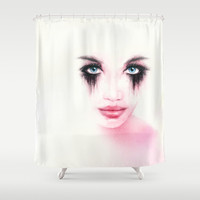 MonGhost XII - TheWarriorGirl Shower Curtain by LilaVert