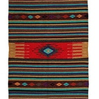 """Hand Woven Southwest Style Accent Rug, 20"""" X 40"""" (HAZT7)"""