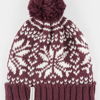 Krochet Kids Becks Pom Beanie Burgundy One Size For Women 26634432001
