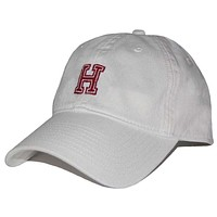 Harvard Needlepoint Hat in White by Smathers & Branson