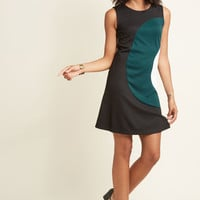 Choose Your Words Cheerfully A-Line Dress in Teal