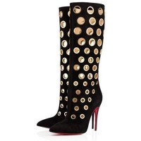 Christian Louboutin Women Fashion Casual Heels Shoes Boots-2