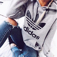 Adidas Fashion Hooded Top Pullover Sweater Hoodies
