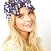 ASOS Butterfly Turban With Front Bow Tie Detail